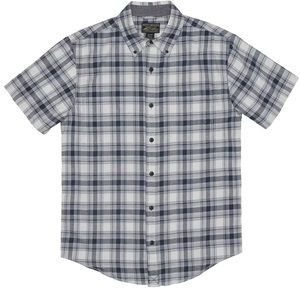 Grizzly Mountain Blue Plaid Short Sleeve Shirt